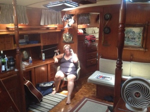 Pat in her amazing office.